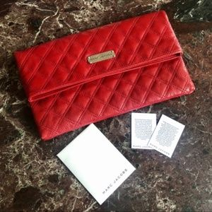 {Marc Jacobs} RARE Large Eugenie Quilted Clutch